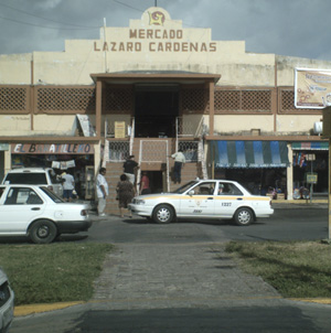 new market in Chetumal on Veracruz Ave. with Belize Bus Terminal