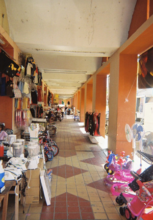 old market in downtown chetumal on Heroes Ave.